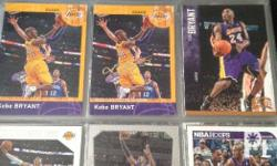 45 pcs kobe bryant nba basketball cards.