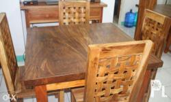 For sale: 4 seaters dining table, adaan wood, solid
