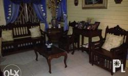 one 3-seater two single seater center table made of