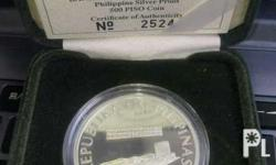 Collectors Item 500 peso coin from BSP 92.5% silver