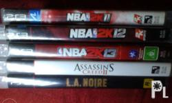 For Sale 5 PS3 Games P900 for all! No swapping! No