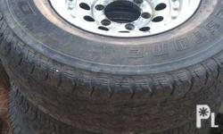 6 holes 255/70R15 3 bridgetone tire , 1 yokohama 80 to