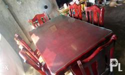 6 seater dining table Original price 17k Solid wood,