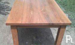 Heavyduty 6seater dining table molave wood. Top is made