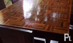 6 seaters dining set (narra wood). You may visit our