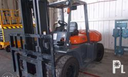 7,000 kgs forklift, engine made by: Dongfeng Chaoyang