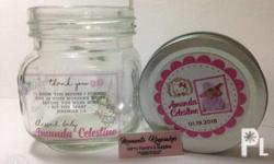 8oz Mason Jars - suotable as Giveaways or Souvenirs.