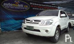 Vehicle Options 2006 Toyota Fortuner G Year: 2006