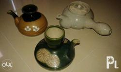 A set of teapots display for SALE! Stylish? Repriced na