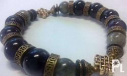 Authentic crystal beads designed into bracelets,