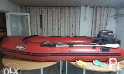 achilles rescue boat with outboard motor 8 hp.made in