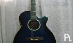 Description acoustic guitar with Built-In pick-up with