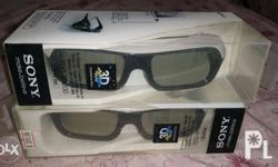 Selling my unused active 3d glasses for Sony 3D TVs.