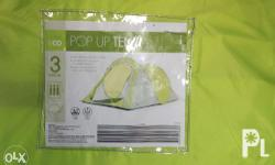 This 3 person pop up tent is extremely easy to set up