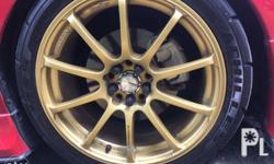 Original Advan 18inch RS mags with Achilles 123S tires