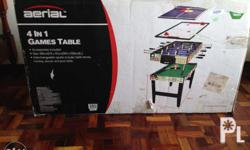 Aerial 4 in 1 Game Table Billards bnew/dented box