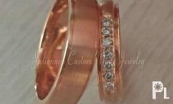14 k gold rose gold or white gold We customized all