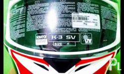 For sale 2nd hand use AGV k3 sv size medium ms. Bought