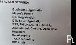SERVICES OFFERED: Business Registration BIR
