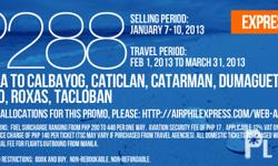 AIRPHIL EXPRESS PROMO FARE FOR AS LOW AS PHP288...