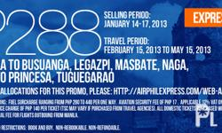 AIRPHIL EXPRESS PROMO FARE FOR AS LOW AS PHP288 (MANILA