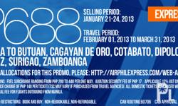 AIRPHIL EXPRESS PROMO FARE FOR AS LOW AS PHP688 (MANILA