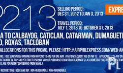 AIRPHIL EXPRESS PROMO FARE AT PHP213 MANILA TO