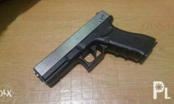 Airsoft G18sSilver Slide Manual Springer Metal Body And