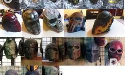 Airsoft masks made in fiberglass. P1,800 each. We can