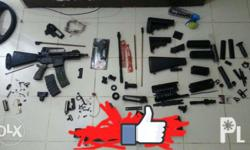 Assorted aeg airsoft parts for sale package only.. All