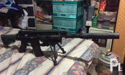 Airsoft M4A1 sniper AnK all metal AEG upgraded