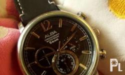 Pre loved alba chronograph watch. Nice watch. Keeps