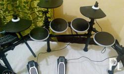 -complete portable electronic drumset with folding