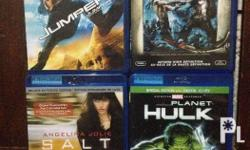 For sale all original bluray movies for 300 each title.