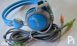 Allan Headset Heavy Duty Color Blue and Red