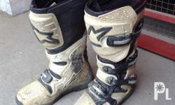 Used Alpinestars motocross boots. Good condition. Price