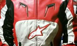 A leather riding jackets are for sale and sizes