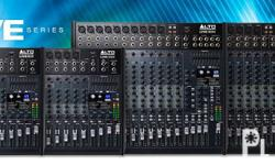 Brand New Alto ZMX and Live Series Audio Mixers On Sale