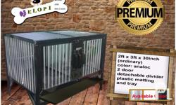 Elopi kennel and aluminum dog cages size: 2ft x 3ft x