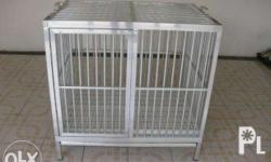 Made to order Aluminum Dog Cage Actual size of the