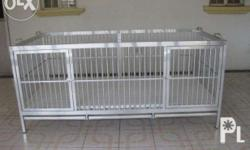 Customized Aluminum dog cage Width-37 inches Length-72