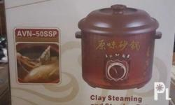 Alvano Clay Steaming and Stewing Pot Never used, just