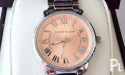 Authentic Anne Klein two tone peach dial watch From usa