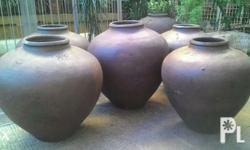 These Antique clay jars (banga/tapayan) are over half