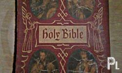 Antique Bible From Italy This is a family Heirloom
