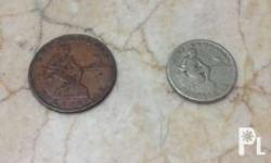 Phil. and USA 1 centavo and 5 centavo coin 1944 1,000