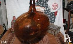 Here is one very nice, large blue Glass DEMIJOHN /