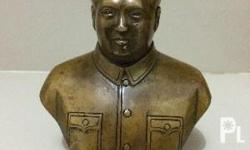 Antique Mao Zedong Copper Statue Size: 5 1/2 x 4 inch