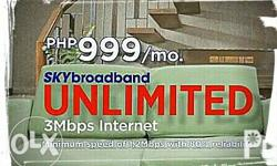 SKYBroadband and SKY Cable offers HIGH-SPEED INTERNET
