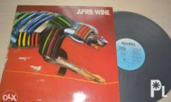 Original April Wine and The Cars album (Imported vinyl